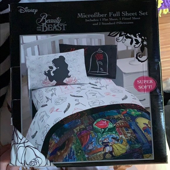 Hot Topic Bedding Beauty And The Beast Full Size Sheets Poshmark